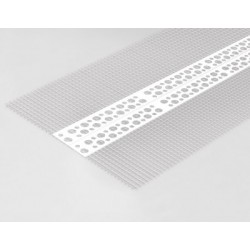 PVC universal corner with mesh 22x22mm 3,0mb