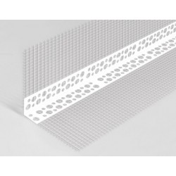 PVC corner with mesh 10x6cm 3,0mb