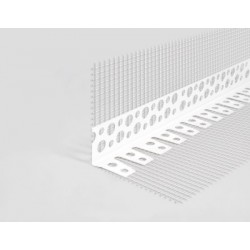 PVC Arch corner with mesh 23x23mm 2,5mb
